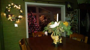 Christmas Dinning and Sunroom at Night